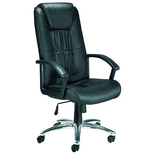 Jemini Tiber Leather Faced Executive Office Chair Black
