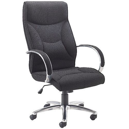competitive price 2b530 6d096 Avior High Back Executive Office Chair Black KF74187