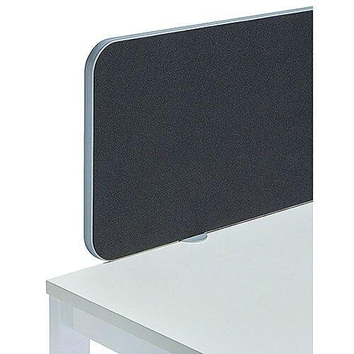 Jemini Straight Rounded Corner Screen Silver Trim Black 1200mm KF74252
