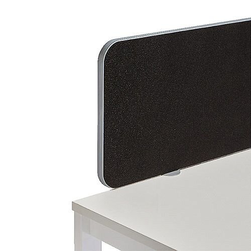 Jemini Straight Rounded Corner Screen White Trim Black 1200mm KF74264