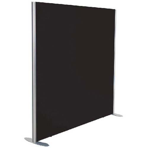 Jemini Floor Standing Screen Including Feet 1800 x 1200 Black KF74337