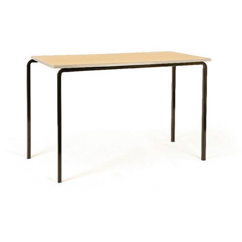Jemini PU Edge Beech Top Class Table With Silver Frame 1200 x 600 x 590mm Pk4 KF74569