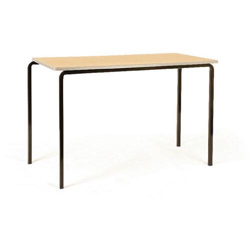 Jemini PU Edge Beech Top Class Table With Silver Frame 1200 x 600 x 760mm Pk4 KF74573