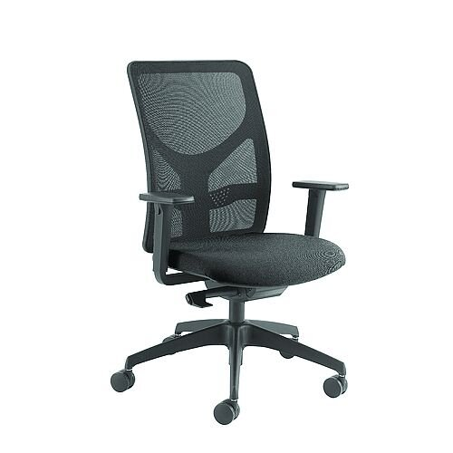 Arista Push Mech Mesh Task Operator Black Office Chair KF74644