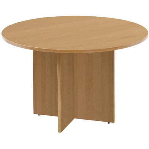 First Round Meeting Table Oak KF74907