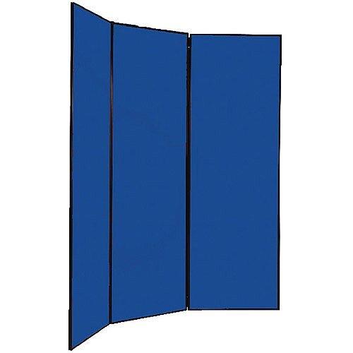 Multi-Fold Jumbo Display Screen 2700x1800mm Black Frame Blue Q-Connect FN2BLA6