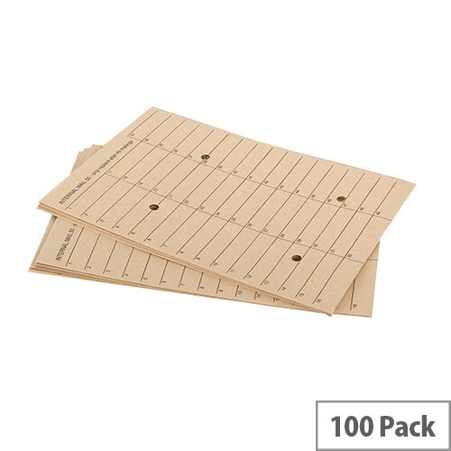 Q-Connect Internal Mail Board Back Envelopes C4 Manilla (Pack of 100)