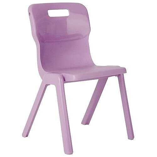 Titan One Piece School Chair Size 5 430mm Purple Pack of 10