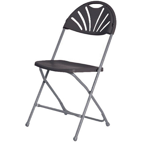 Jemini Folding Chair Charcoal KF78657