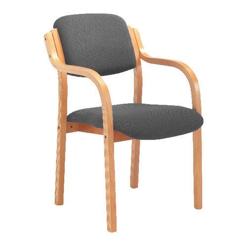 Jemini Wood Frame Arm Chair Charcoal KF78681