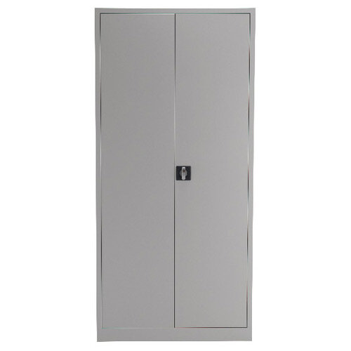Talos Double Door Stationery Cupboard 1950 Grey KF78756