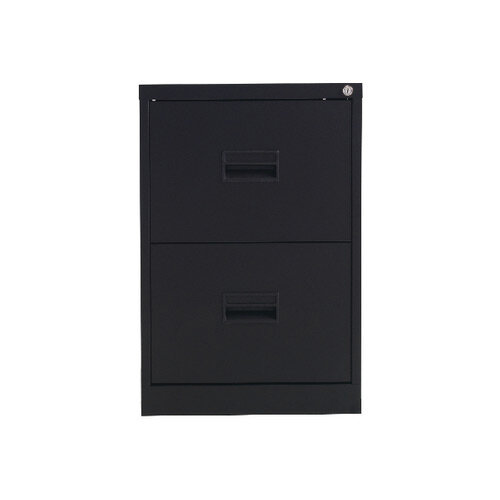 Talos 2 Drawer Steel Filing Cabinet Black KF78762