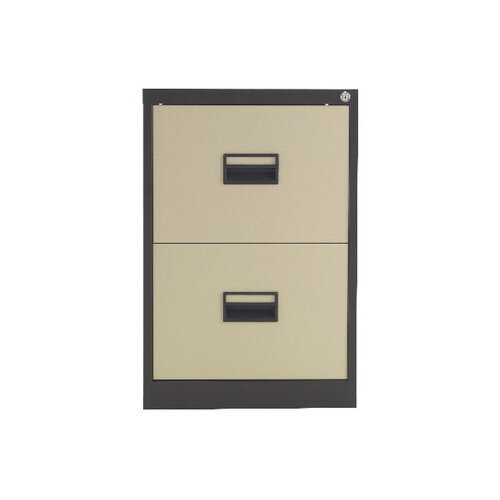 Talos 2 Drawer Steel Filing Cabinet Coffee Cream KF78763