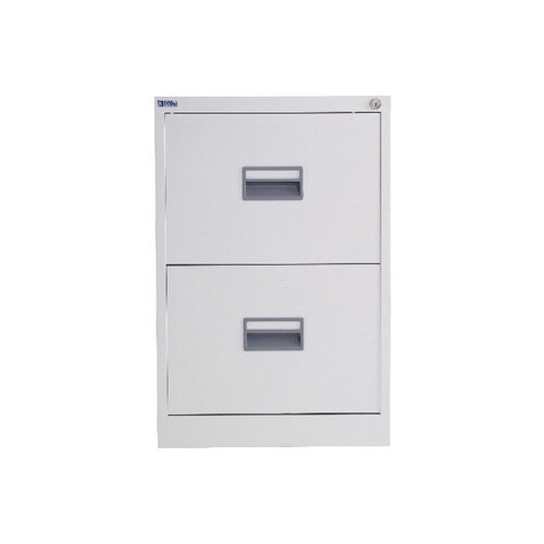 Talos 2 Drawer Steel Filing Cabinet White KF78765