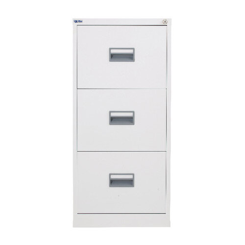 Talos 3 Drawer Steel Filing Cabinet White KF78769
