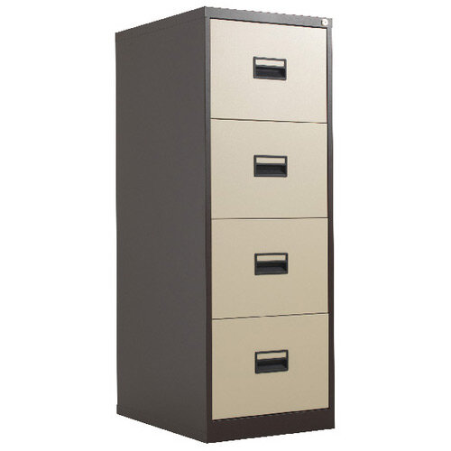 Talos 4 Drawer Steel Filing Cabinet Coffee Cream KF78771