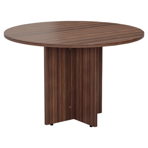 Jemini Walnut Round D1200 Meeting Table KF78959