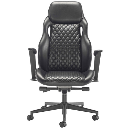 Arista Svelto Leather Look Executive Office Chair Black KF79130