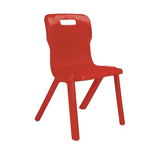 Titan One Piece School Chair Size 3 350mm Red Pack of 10