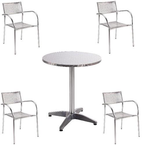 Arista Aluminium Bistro Table and Chairs Bundle KF839474