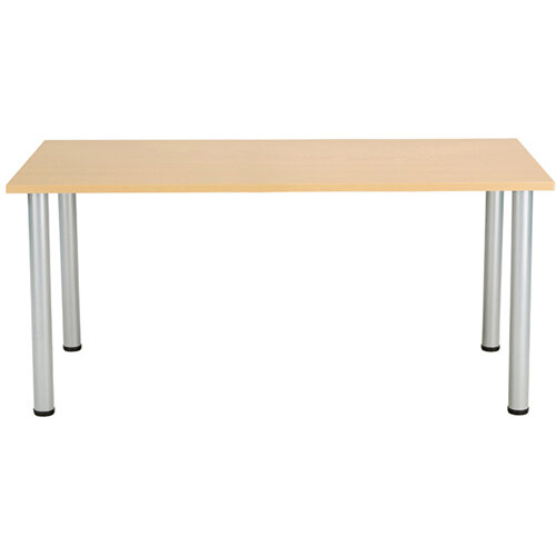 Jemini Oak 1200x800mm Rectangular Meeting Table KF840175