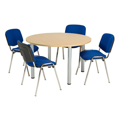 Jemini Oak 1200mm Circular Meeting Table KF840178