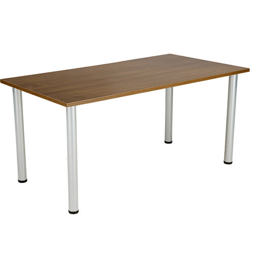 Jemini Walnut 1800x800mm Rectangular Meeting Table KF840192
