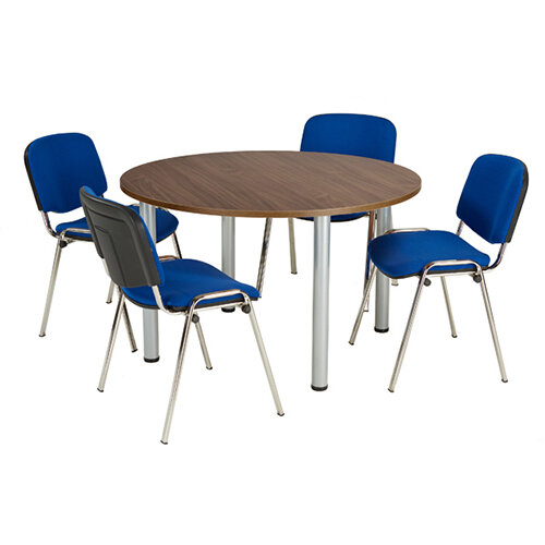 Jemini Walnut 1200mm Circular Meeting Table KF840193