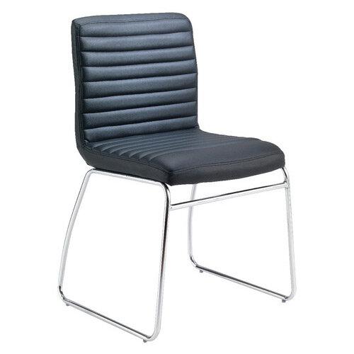 First Meeting Chair Black PU Chrome Base KF98508