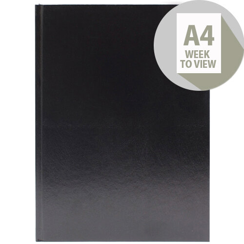 Desk Diary A4 Week to View 2020 Black KFA43BK20