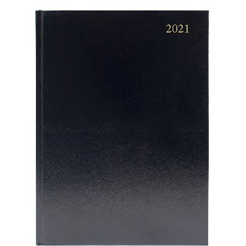 2021 A5 Desk Diary Day Per Page Black KFA51BK21