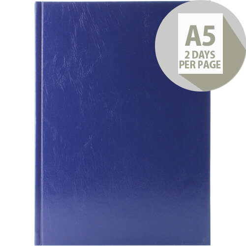 Desk Diary A5 2 Days Per Page 2020 Blue KFA52BU20