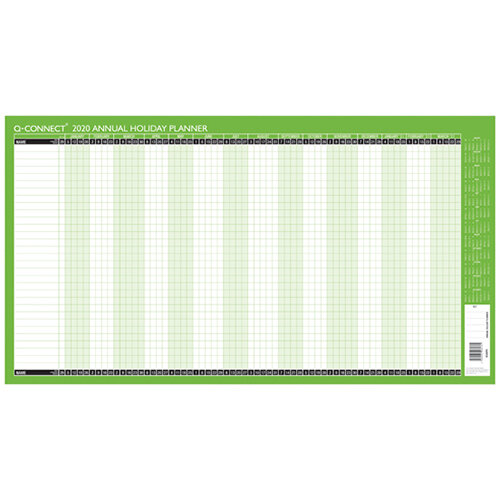 Q-Connect Holiday Planner Unmounted 754 x 410mm 2020 KFAHP20