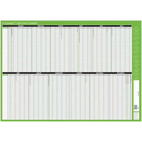 Q-Connect Day Planner Unmounted 855 x 610mm 2020 KFDPU20