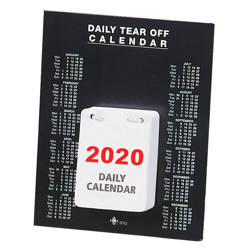 Daily Desk Calendar Tear Off 150 x 185mm 2020 KFDTO20