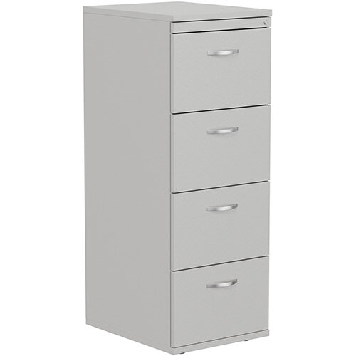 Kito 4-Drawer Wooden Filing Cabinet in Grey Height 1320mm