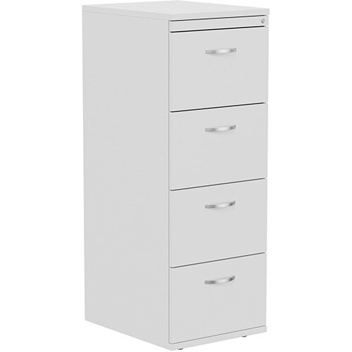 Kito 4-Drawer Wooden Filing Cabinet in White Height 1320mm
