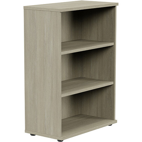 Medium Bookcase 1130mm High With Adjustable Shelves &Floor Leveller Feet Arctic Oak Kito