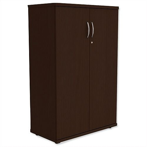 Medium Cupboard with Lockable Doors H1130mm Dark Walnut Kito