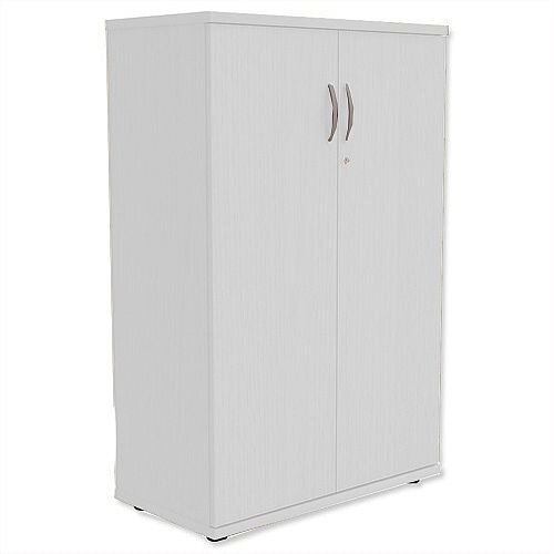 Medium Cupboard with Lockable Doors H1130mm White Kito