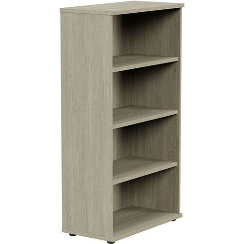 Medium Tall Bookcase with Adjustable Shelves and Floor-leveller Feet W800xD420xH1490mm Arctic Oak Kito