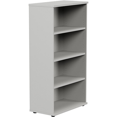 Medium Tall Bookcase with Adjustable Shelves and Floor-leveller Feet W800xD420xH1490mm Grey Kito