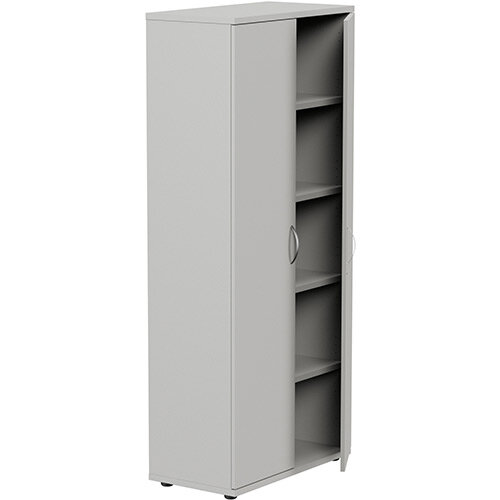 Tall Grey 2 Door Office Cupboard 1850mm Height Kito