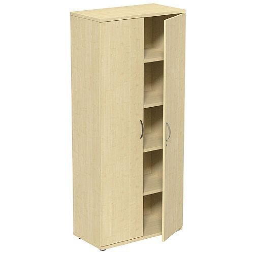 Tall Maple 2 Door Office Cupboard 1850mm Height Kito