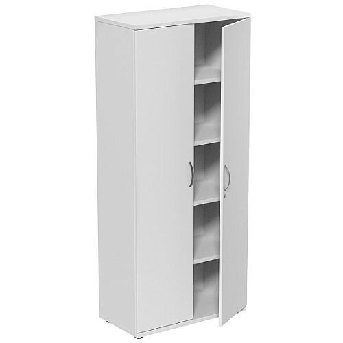 Tall White 2 Door Office Cupboard 1850mm Height Kito