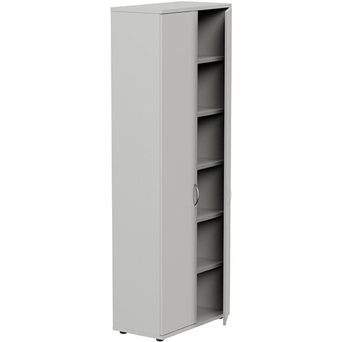Tall Cupboard with Lockable Doors W800xD420xH2210mm Grey Kito