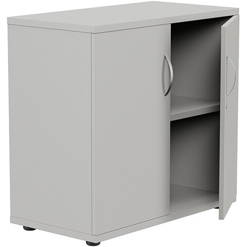 Low Cupboard with Lockable Doors W800xD420xH770mm Grey Kito