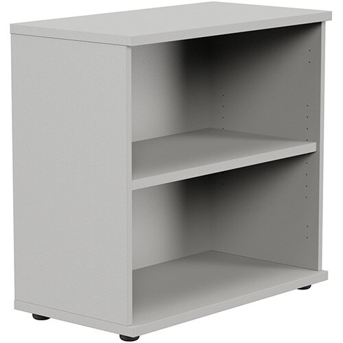 Kito Low Bookcase With Adjustable Shelves &Floor-leveller Feet W800xD420xH770mm Grey