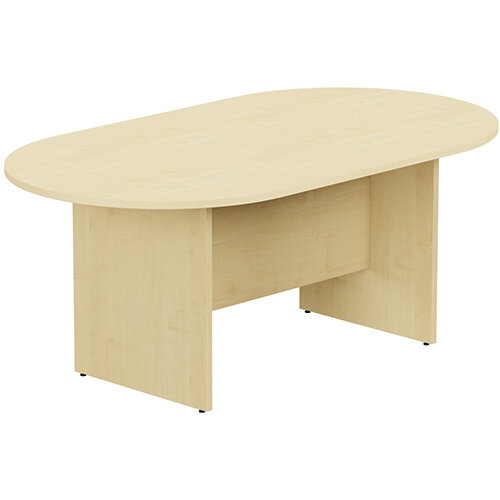 Kito W1800mmxD1000mm Maple D-End Boardroom Table with Panel Leg Base - 6-8 Person Seating Capacity