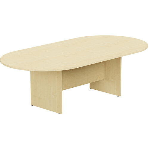 Kito W2400mmxD1200mm Maple D-End Boardroom Table with Panel Leg Base - 8-10 Person Seating Capacity